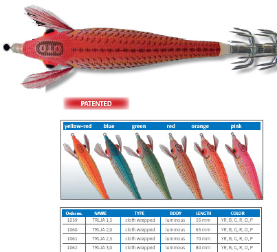 DTD Squid Jigs - Available from Mister Fish, Malta