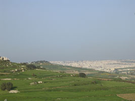 View of Mosta from Mgarr